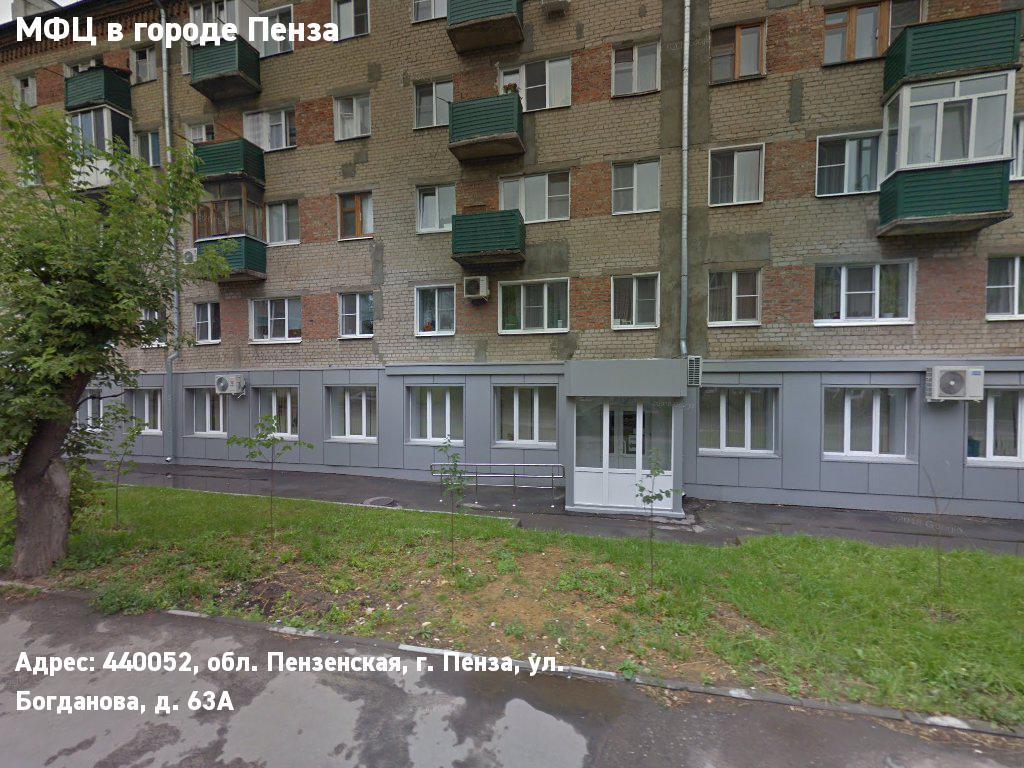 МФЦ в городе Пенза (Городской округ город Пенза)